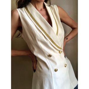 Vintage longline vest